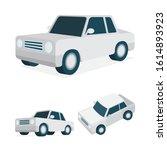 isometric car vector... | Shutterstock .eps vector #1614893923