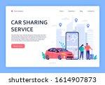 car rent. cars rent phone... | Shutterstock .eps vector #1614907873