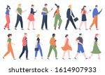 walking people. business men... | Shutterstock .eps vector #1614907933