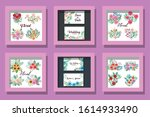 bundle of cards invitation with ...   Shutterstock .eps vector #1614933490