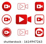 play video camera icon shape...