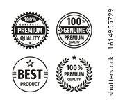 business badges vector set in... | Shutterstock .eps vector #1614955729