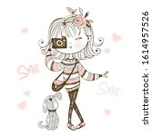 Cute Fashionable Girl With A...