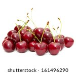 cherry fruit isolated on white | Shutterstock . vector #161496290