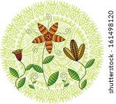 beautiful flowers nature green... | Shutterstock .eps vector #161498120