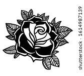 rose cartoon illustration... | Shutterstock .eps vector #1614987139