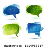 set of colorful speech bubbles...