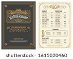 barbershop price list flyer.... | Shutterstock .eps vector #1615020460