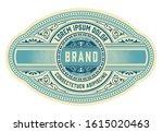 vintage gin label packaging... | Shutterstock .eps vector #1615020463
