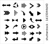 arrows big black set icons. ...   Shutterstock .eps vector #1615044640