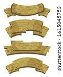 cartoon brown wooden plate and...   Shutterstock .eps vector #1615045753