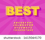 3d bold retro font. vintage... | Shutterstock .eps vector #1615064170