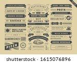 restaurant menu typographic... | Shutterstock .eps vector #1615076896
