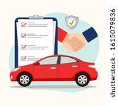 car insurance concept  vector... | Shutterstock .eps vector #1615079836