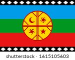 mapuche flag  emblem of the... | Shutterstock .eps vector #1615105603