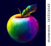 Apple. Abstract  Multi Colored  ...