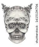 art vintage mix surreal devil...   Shutterstock . vector #1615134706