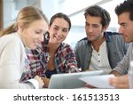 young people meeting with... | Shutterstock . vector #161513513