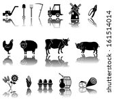 agriculture and farming icons | Shutterstock .eps vector #161514014