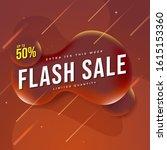 abstract liquid sale banner.... | Shutterstock .eps vector #1615153360
