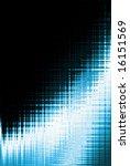 blue curve pattern background... | Shutterstock . vector #16151569