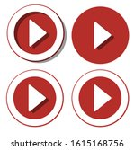 play button red icon in trendy... | Shutterstock .eps vector #1615168756