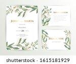 wedding invite. set of card... | Shutterstock .eps vector #1615181929