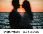 Silhouette Of A Romantic Couple ...