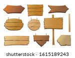 set of isolated wooden... | Shutterstock .eps vector #1615189243