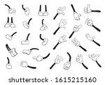 cartoon hands and legs big set. ... | Shutterstock .eps vector #1615215160