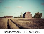 Path To The Old Red Barn On A...