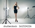 beautiful female model posing... | Shutterstock . vector #161524226
