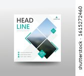square web banners with... | Shutterstock .eps vector #1615272460