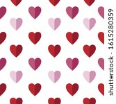 valentines hearts on white... | Shutterstock .eps vector #1615280359