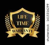 lifetime warranty logo with... | Shutterstock .eps vector #1615316299