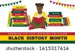 black history month vector... | Shutterstock .eps vector #1615317616