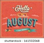 hello august typographic design.... | Shutterstock .eps vector #161532068