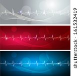 cardiogram banners  various...   Shutterstock .eps vector #161532419