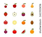 fruits and vegetables icons... | Shutterstock .eps vector #161532656