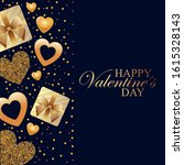 valentine card with gifts and... | Shutterstock .eps vector #1615328143