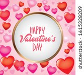 valentine card between colorful ...   Shutterstock .eps vector #1615328209