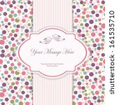 wedding card or invitation with ... | Shutterstock .eps vector #161535710