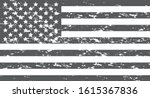 vector black and white usa flag.... | Shutterstock .eps vector #1615367836
