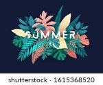 summer tropical vector design... | Shutterstock .eps vector #1615368520