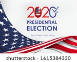 2020 presidential election.... | Shutterstock .eps vector #1615384330