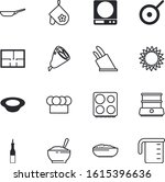 Kitchen Vector Icon Set Such As ...