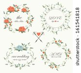 vintage wedding set with... | Shutterstock .eps vector #161541818