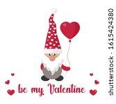 valentines dwarf vector with... | Shutterstock .eps vector #1615424380