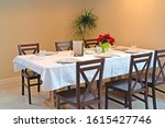 table for six in the cafe...   Shutterstock . vector #1615427746
