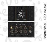 coffee card  loyalty program... | Shutterstock .eps vector #1615458559